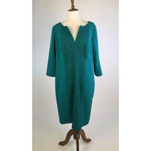Adrianna Papell Womens Dress 16W 1X Green C5-10Z